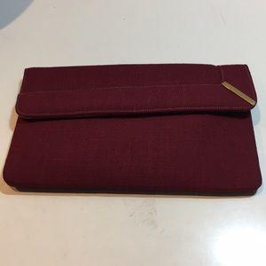 Amazing rare vintage Lewis merlot color clutch bag